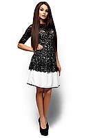 S, M / Стильное гипюровую платье Zaria, черный