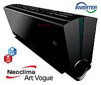 Кондиционер Neoclima серия ArtVogue BLACK inverter  модель NS/NU-12AHVIwb, фото 1