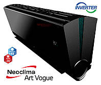 Кондиционер Neoclima серия ArtVogue BLACK inverter  модель NS/NU-24AHVIwb, фото 1