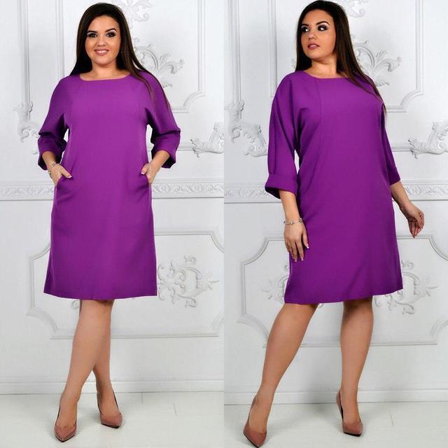 Платье, модель 772 батал, цвет - лиловый