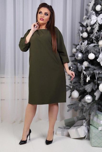 Платье, модель 772 батал, цвет - хаки