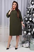Платье, модель 772 батал, цвет - хаки, фото 1