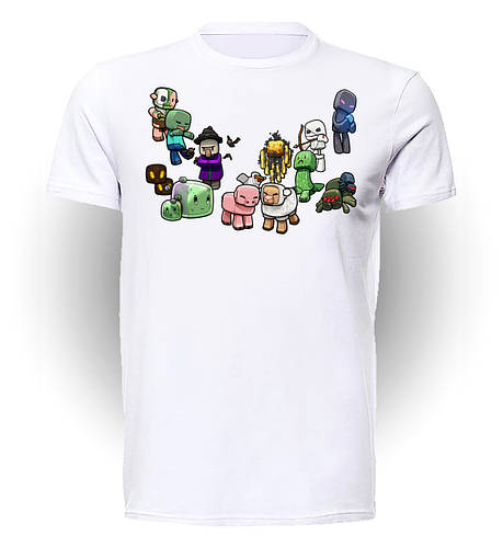 Футболка GeekLand Майнкрафт Мinecraft персонажи MC.01.076