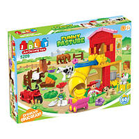 """Конструктор с большими деталями JDLT (LEGO Duplo) """"Веселая ферма"""" 60 деталей, 5209"""