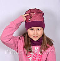 Демисезонные шапки на девочек от 1 года и до 18+