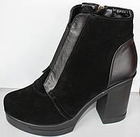 Весенние женские ботинки на каблуке, женская обувь кожа от производителя модель НП1819