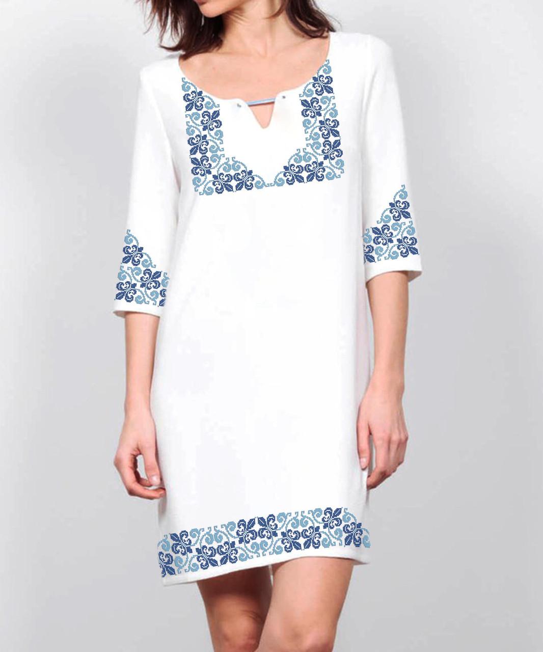 Заготовка жіночого плаття чи сукні для вишивки та вишивання бісером Бисерок  «Французька лілія» (П-132 )
