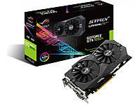 Видеокарта GeForce GTX1050Ti, Asus, GAMING, 4Gb DDR5, 128-bit, 2xDVI/HDMI/DP, 1392/7008 MHz (STRIX-GTX1050TI-4G-GAMING)