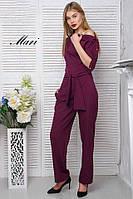 Комбинезон женский стильный с поясом креп-костюмка 4 цвета Dmil769, фото 1