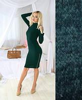 """Платье-гольф с молнией """"Estetic"""" из ангоры, темно-зеленый"""