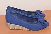 Туфлі  женские  на танкетке с отрытым носком Pilar Burgos  б/у из Германии