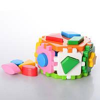"""Куб """"Розумний малюк"""" Гексагон 2 1998, детская развивающая игрушка, сортер, игра, кубик"""