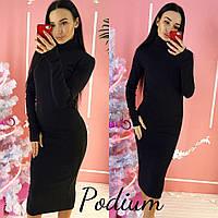 """Платье женское """"Podium"""" черный, 44"""