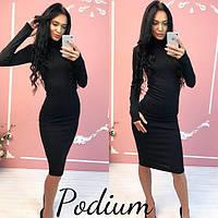 """Платье женское """"Podium"""" черный, 46"""