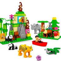 """Конструктор для самых маленьких с большими деталями JDLT (LEGO Duplo) """"Дикие животные"""" 106 деталей, 5285"""