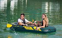 Двухместная надувная лодка Intex 68347 + насос + весла, фото 3