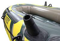 Двухместная надувная лодка Intex 68347 + насос + весла, фото 5