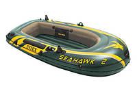 Двухместная надувная лодка Intex 68347 + насос + весла, фото 9