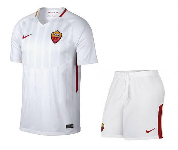 Футбольная форма Рома белая сезон 2017-18