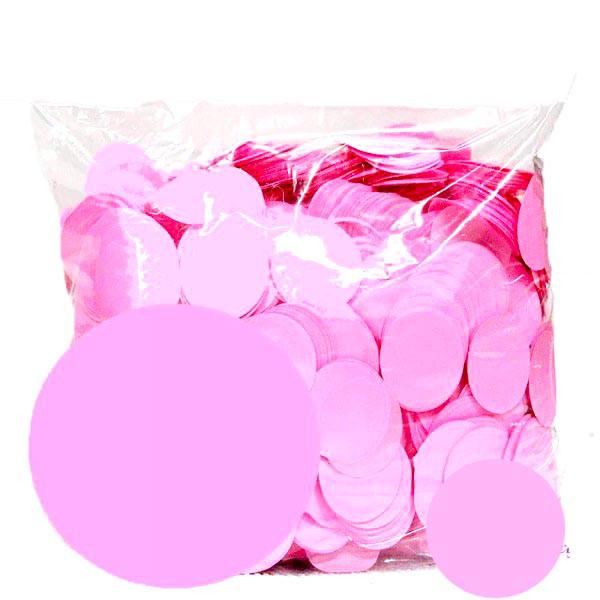 Конфетти кружочки 23мм. розовый. Вес:500гр.
