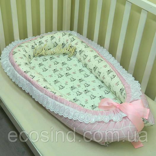 Гнездышко кокон позиционер для новорожденного BabyNest — 16
