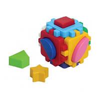 """Куб """"Розумний малюк"""" Міні 1882, детская развивающая игрушка, сортер, кубик, игра"""