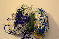 """Волейбольная сетка капроновая с шнуром натяжения D 1,2мм., 15см. ячейка для волейбола """"Капрон"""""""