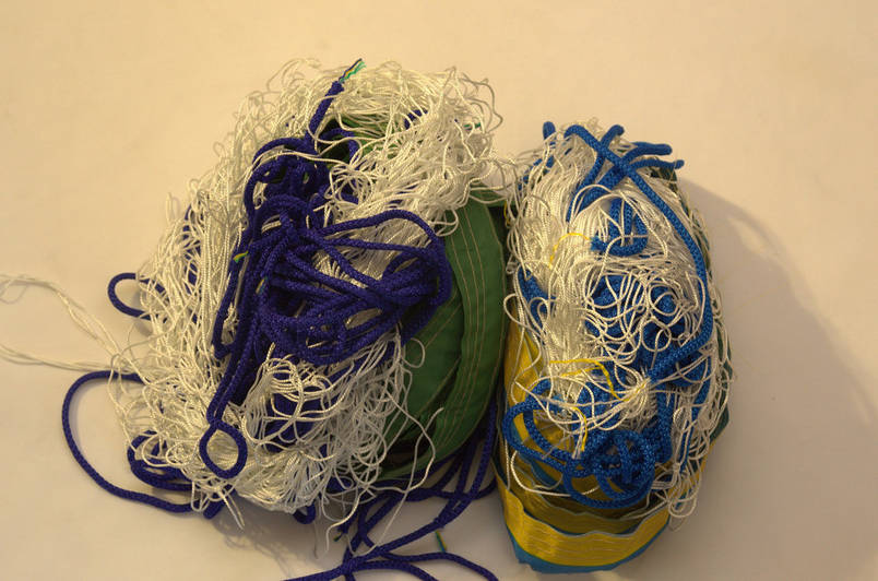 """Волейбольная сетка капроновая с шнуром натяжения D 1,2мм., 15см. ячейка для волейбола """"Капрон"""", фото 2"""
