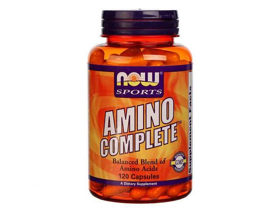 Аминокислота NOW Foods Amino Complete 120 капсул, фото 2