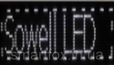 Бегущая строка AT-6820W 68х20 см белая, фото 2