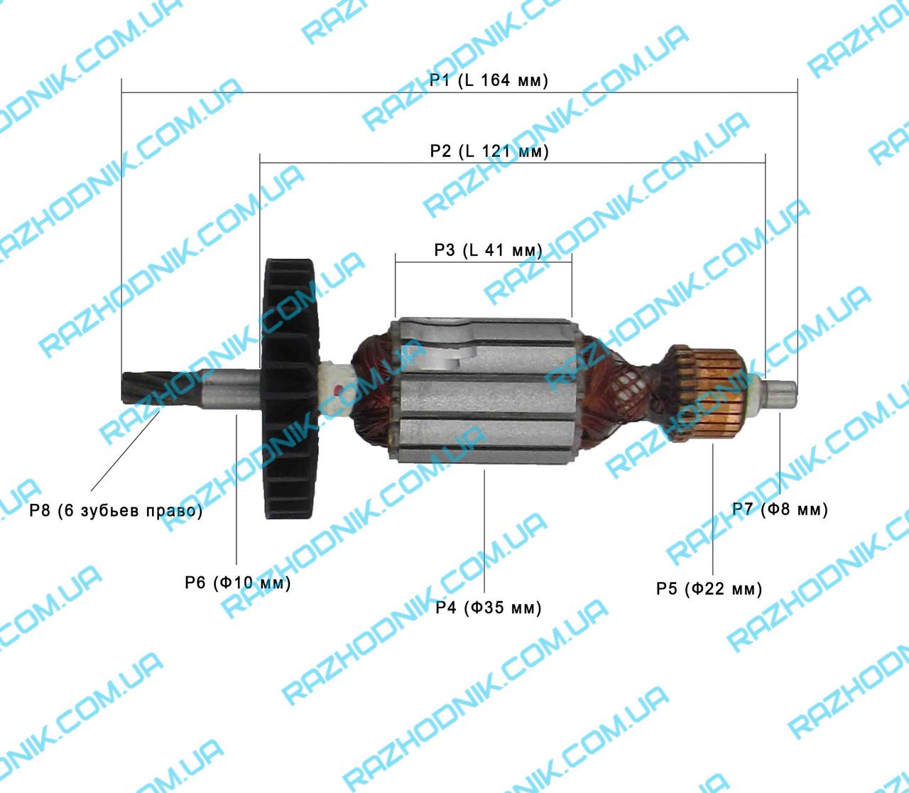 Якорь на перфоратор Forte PLRH 24-8R,Eltos ПЭ-1200