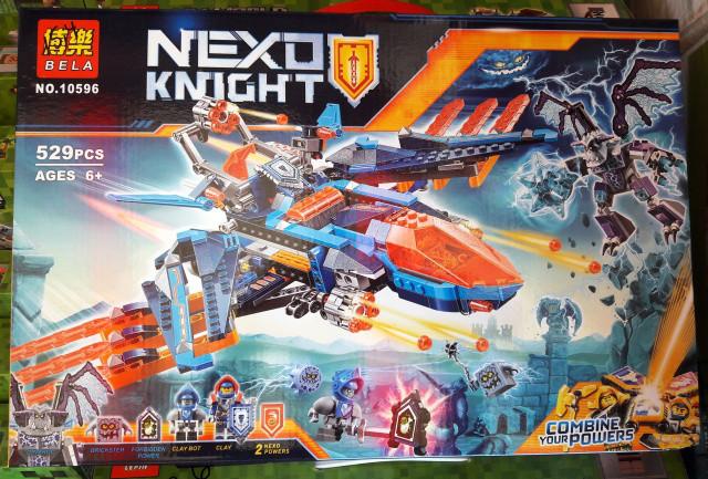 Конструктор Bela 10596 Nexo Knight Самолет-истребитель Сокол Клэя 10596 529 дет