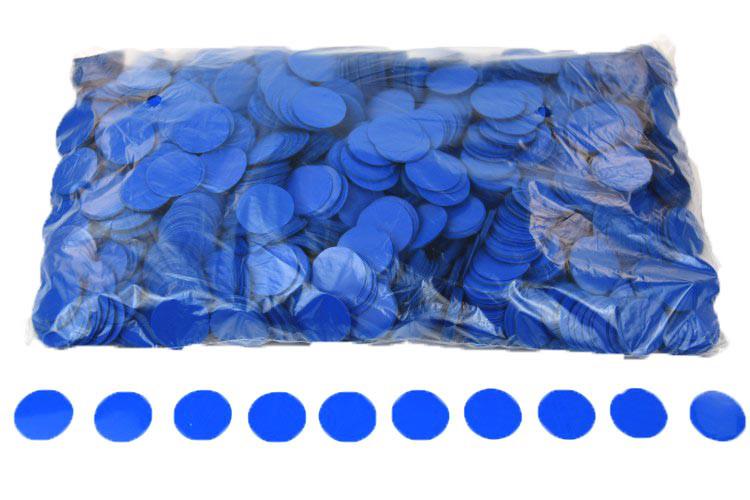 Конфетти кружочки 23мм. синий. Вес:50гр.