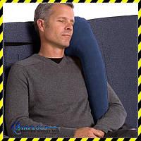 Дорожная надувная Подушка для путешествий с боковой поддержкой (navy blue)!