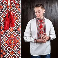 Мужские вышиванки на домотканом полотне Зорян