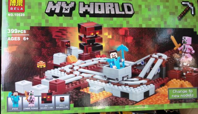 Конструктор Bela 10620 Minecraft Майнкрафт Подземная железная дорога 399 дет