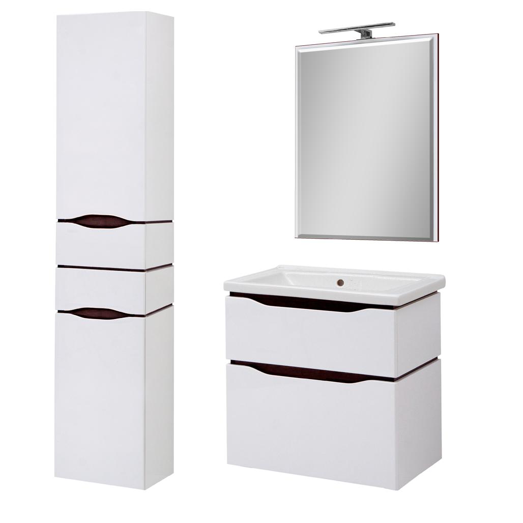 Комплект мебели для ванной комнаты Сенатор 60 подвесной с зеркалом Юввис