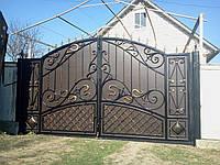 Кованые ворота для дома и дачи