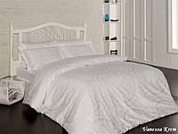 Комплект постельного белья First Choice Satin Cotton полуторный Vanessa krem