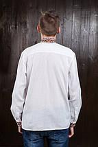 Мужская рубашка с красной вышивкой Мирослав, фото 3