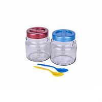 Набор стеклянных банок Duet с ложками, 2 шт по 550 мл EverGlass 2550Н-К