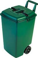 Мусорный бак на колесах Outdoor Bin на 90 л зеленый с черным CURVER 154907
