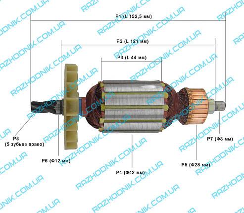 Якорь на перфоратор STURM RH2565-NNб/RH2590, фото 2
