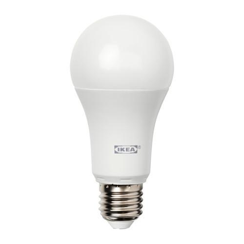 Светодиодная лампа IKEA TRADFRI E27 980 люмен беспроводной тонированный белый 103.182.63