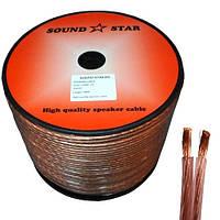 Кабель «Sound Star» 2х4,0мм² акустический, бескислородная медь, прозрачный, 100м