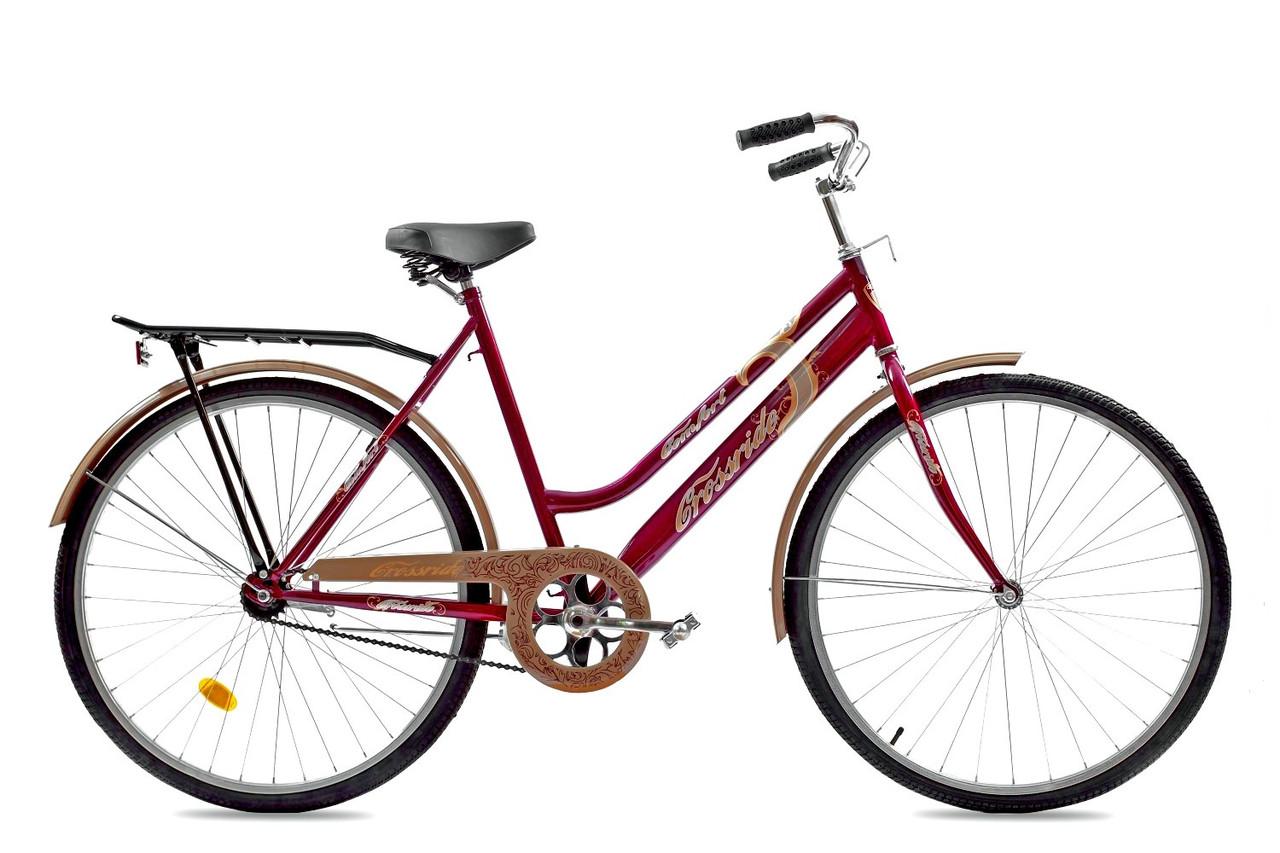 """Городской велосипед TOTEM COMFORT D 28"""" 22""""  Бордовый"""
