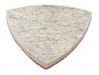 Насадка треугольная войлочная грубошерстная на липучке для реноватора 85 мм, 10 шт