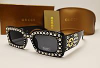 Женские солнцезащитные очки Gucci 0146S (Цвет черный), фото 1