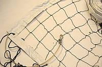 """Волейбольная сетка с тросом  капроновая D 1,2мм., 10см. ячейка для волейбола обшита с 4 сторон Капрон10 норма"""""""