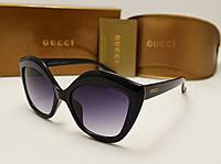 Женские солнцезащитные очки Gucci 11065 (Цвет черный с красной дужкой), фото 1